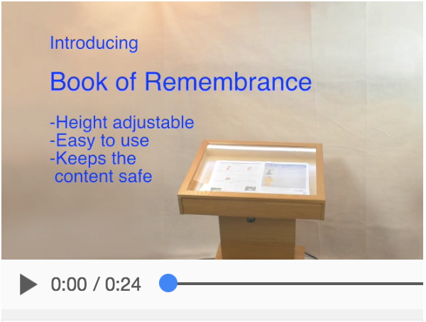 Book of Remembrance video demonstration